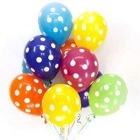 Гелиевые шары с рисунком «Горох»