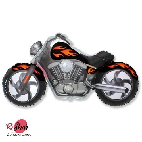 Фольгированный шар (45''/114 см) Фигура, мотоцикл, Черный