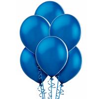 Воздушный шар Синий, металлик.