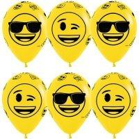 Воздушные шары с гелием с рисунком «Смайлы Эмоции Крутые»