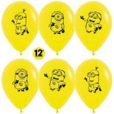 Воздушные шары с гелием с рисунком «Миньоны в ассорти»