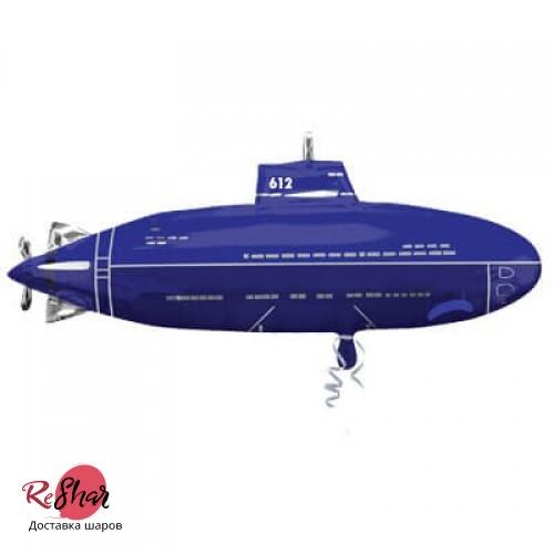 Воздушный шар с гелием фигура подлодка 84см