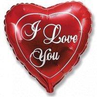 Фольгированный шар сердце «i Love You» (46см.)