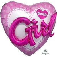Воздушный шар с гелием фигура Звезда девочка на выписку 91см