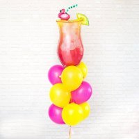 Композиция из воздушных шаров «Коктейльная фотосессия» №101