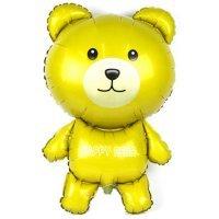 Фигура из Фольги «Мишка» Жёлтый (91см.)