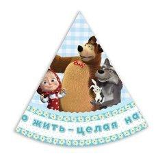 Колпачки Маша и Медведь, 6шт