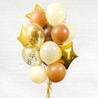 Композиция из воздушных шаров «Шоколадно-карамельная фотосессия» №100