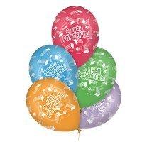 Воздушные шары с гелием с надписями с днём рождения, конструктор 36см
