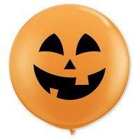 Воздушные шары с гелием большой, тыква весёлая, хэллоуин 90см