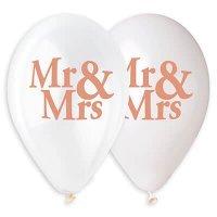 Воздушные шары с гелием с надписями Mr and Mrs 36см