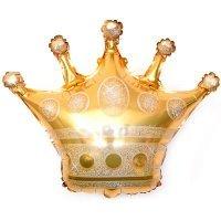 Фольгированный шар (28''/71 см) Фигура, Золотая корона
