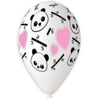 Латексные шарики Панда и сердечки 36см