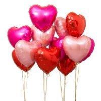 Композиция из воздушных шаров «Ассорти сердец» №179