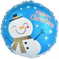 Круг «Снеговик Merry Christmas» (46см.)