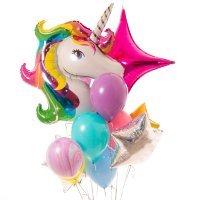 Композиция из воздушных шаров «Волшебный Единорог» №140