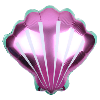 Фольгированный шар (20''/51 см) Фигура, Морская ракушка, Розовый