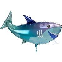 Фольгированный шарик с гелием фигура Акула 96см