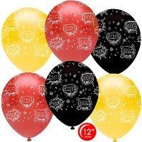 Воздушные шары с гелием надписи, Cool, WTF, Smile 30см