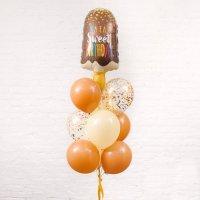 Композиция из воздушных шаров «Сладкий День Рождения»