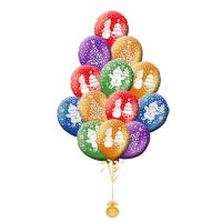Воздушные шары с гелием с рисунком «Новогодняя сказка»