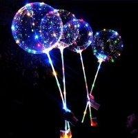 Светящийся шар на палочке со светодиодами