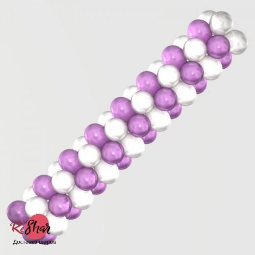 Гирлянда Бело-Фиолетовая для оформления, цена за 1м