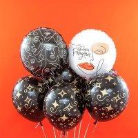 Композиция из шаров С Днём Рождения, геометрия №1006