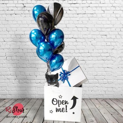Коробка сюрприз с шариками Открыть здесь