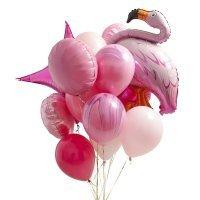 Композиция из воздушных шаров «Фламинго Фотосессия» №148