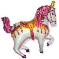 Фольгированный шар (39''/99 см) Фигура, Лошадь цирковая, Фуше