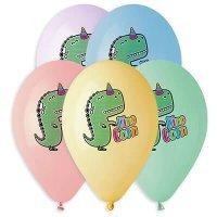Воздушные шары с гелием Dino Corn, Дино-Единорог 36см