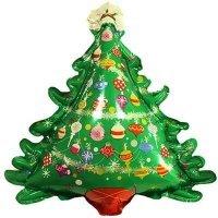 Фольгированный шар (38''/97 см) Фигура, Новогодняя ёлка