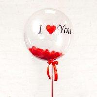Большой шар bubbles «Ваша надпись» 46см