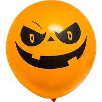 Воздушные шары с гелием большой тыква с улыбкой, хэллоуин 80см