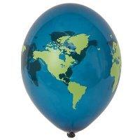 Гелиевые шары в школу, земной шар, 36см