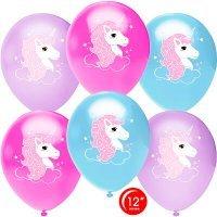Воздушные шары с гелием Нежный единорог 30см