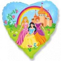 Фольгированный шар сердце «Принцессы» (46см.)