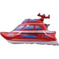 Шар (38''/97 см) Фигура, Яхта, Красный