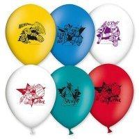 Воздушные шары с гелием Черепашки ниндзя, ассорти 30см