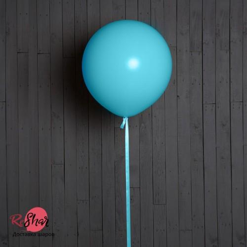 Большие шары с гелием, 50 см, бирюзовый