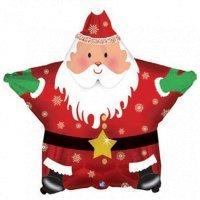 Шар звезда «Санта звездой» (46см.)