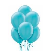 Воздушный шар Карибский голубой металлик