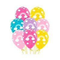 Воздушные шарики с рисунком «Радуга»