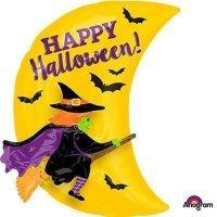 Воздушный шар с гелием фигура Ведьма Happy Halloween, хэллоуин 150см