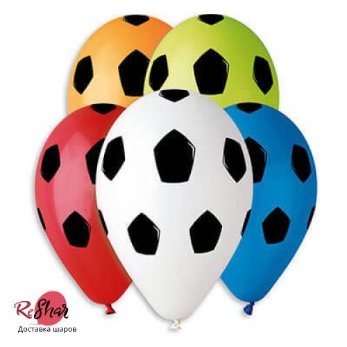 Шары с гелием футбольные мячи, мяч ассорти 30см