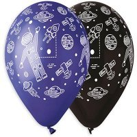 Воздушные шары с гелием космонавт, космос, 36см