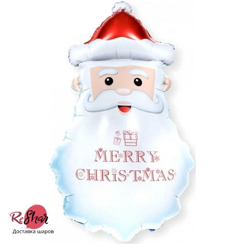 Воздушный шар с гелием Дед Мороз 84см, новый год