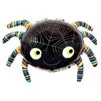 Фольгированный шар  (35''/89 см) Фигура, Паук, Черный