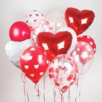 Композиция из воздушных шаров «Сердечный» №22